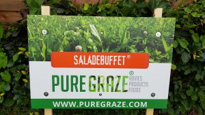 Reclame bord van Pure Graze